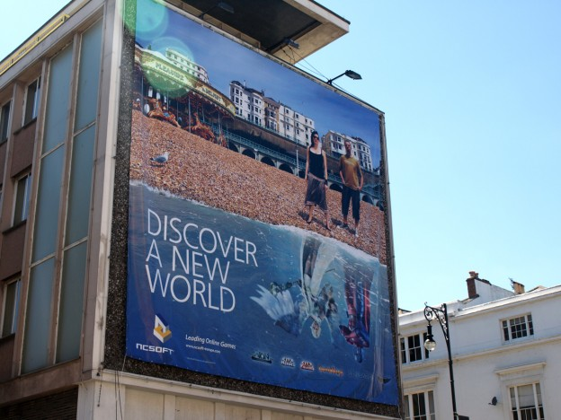 NCsoft advertisement at the Develop conference Brighton