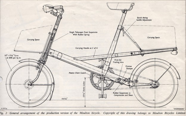 Moulton Bicycle Diagram